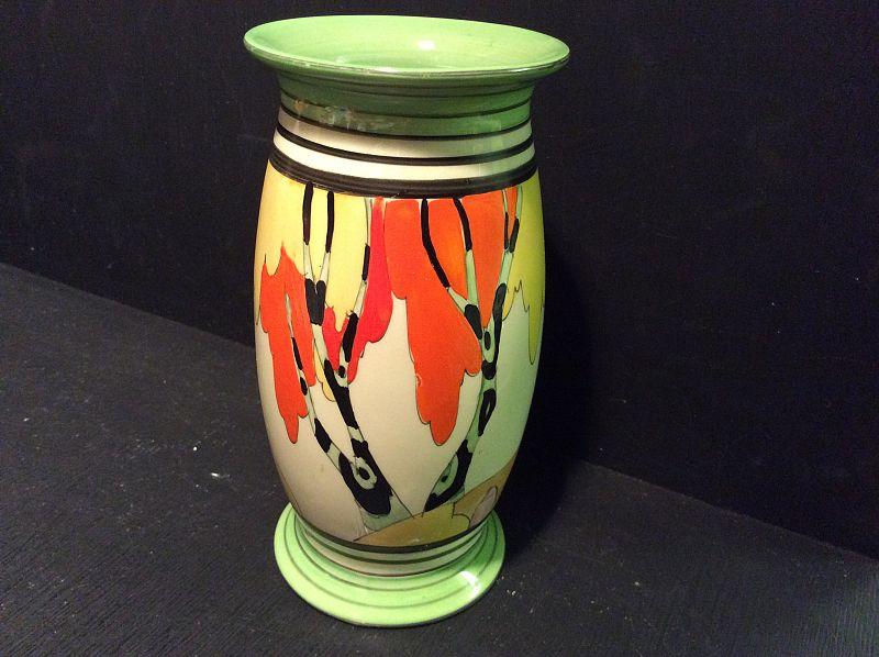 Clarice Cliff A Superb Honolulu Shape 263 Vase 6 Highrfect